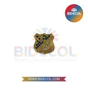 Dije del Equipo de Futbol Millonarios (1.5cm) Dorado en Rodio y Microcircones x 1und
