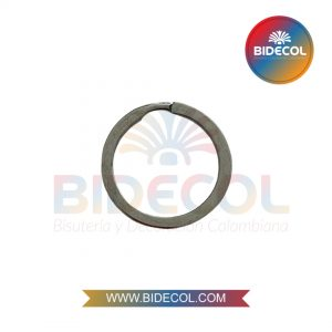 Argolla para Llavero en Acero Plateado 2.5cm x 1und